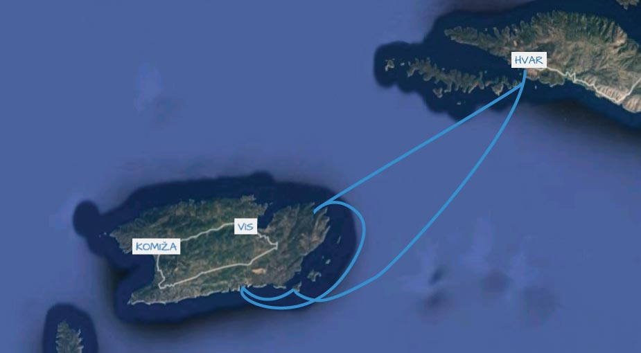 vis hvar sailing cruise